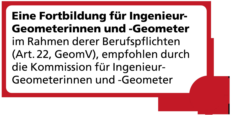 Label Fortbildung für Ingenieur-Geometerinnen und -Geometer