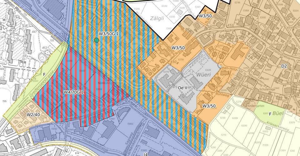 Urban planning zones City of Uster QGIS usergroup Switzerland