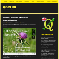 Slides of the Scottish QGIS user group available